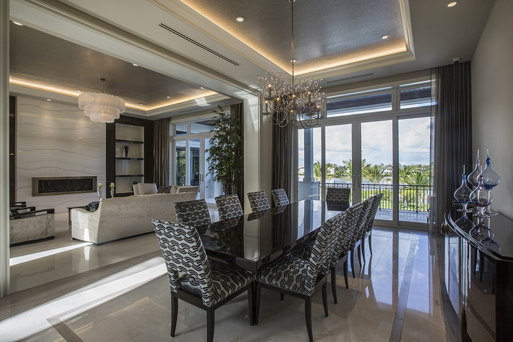 Dinning & Sitting Room in Custom Home Build | South Florida Oceanfront Construction
