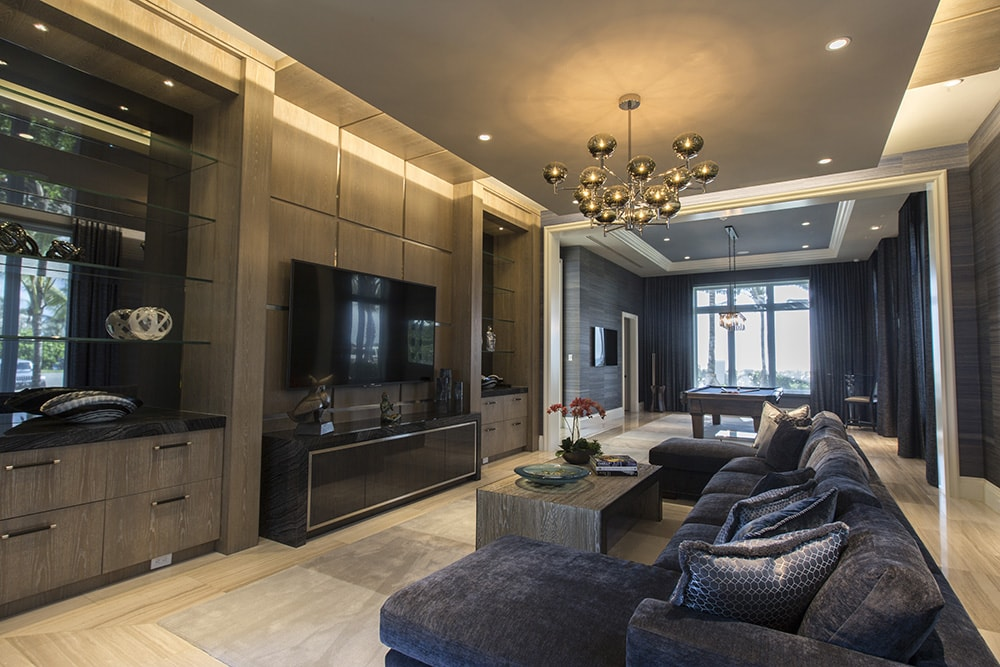 Entertainment Room in Custom Manalapan Home