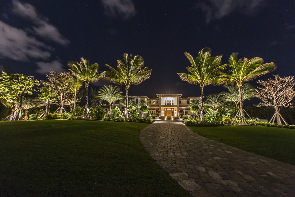Exterior of Custom Home Build in South Florida