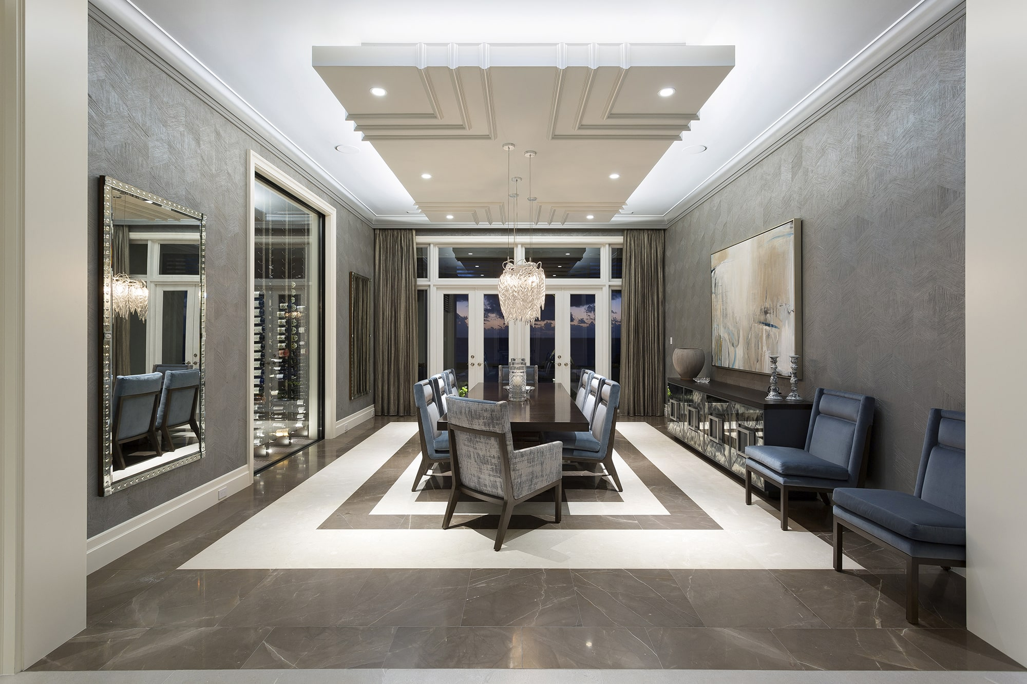 South FL Custom Home Builder | Foyer Entrance
