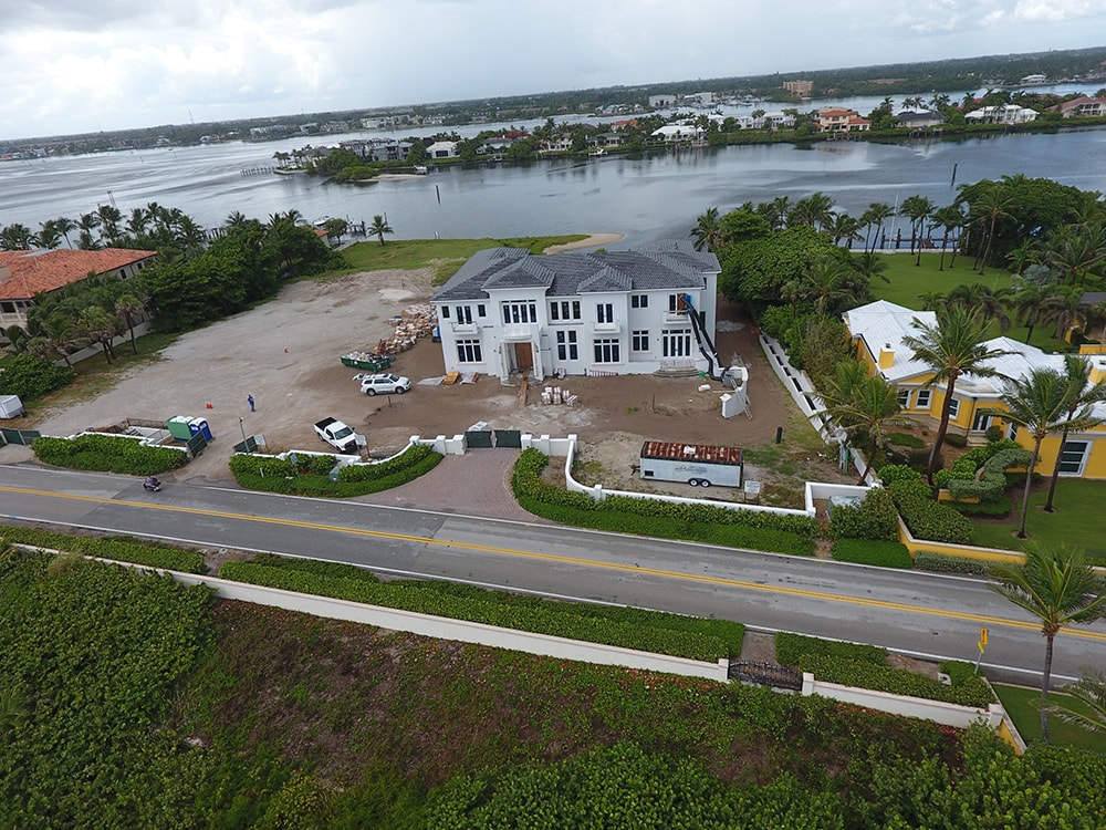 Aerial View of South Florida Oceanfront Construction
