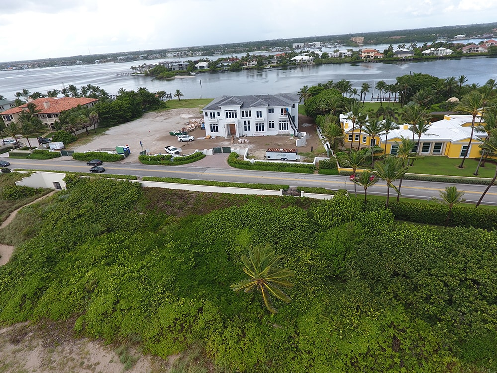 Aerial View of Manalapan Oceanfront Home