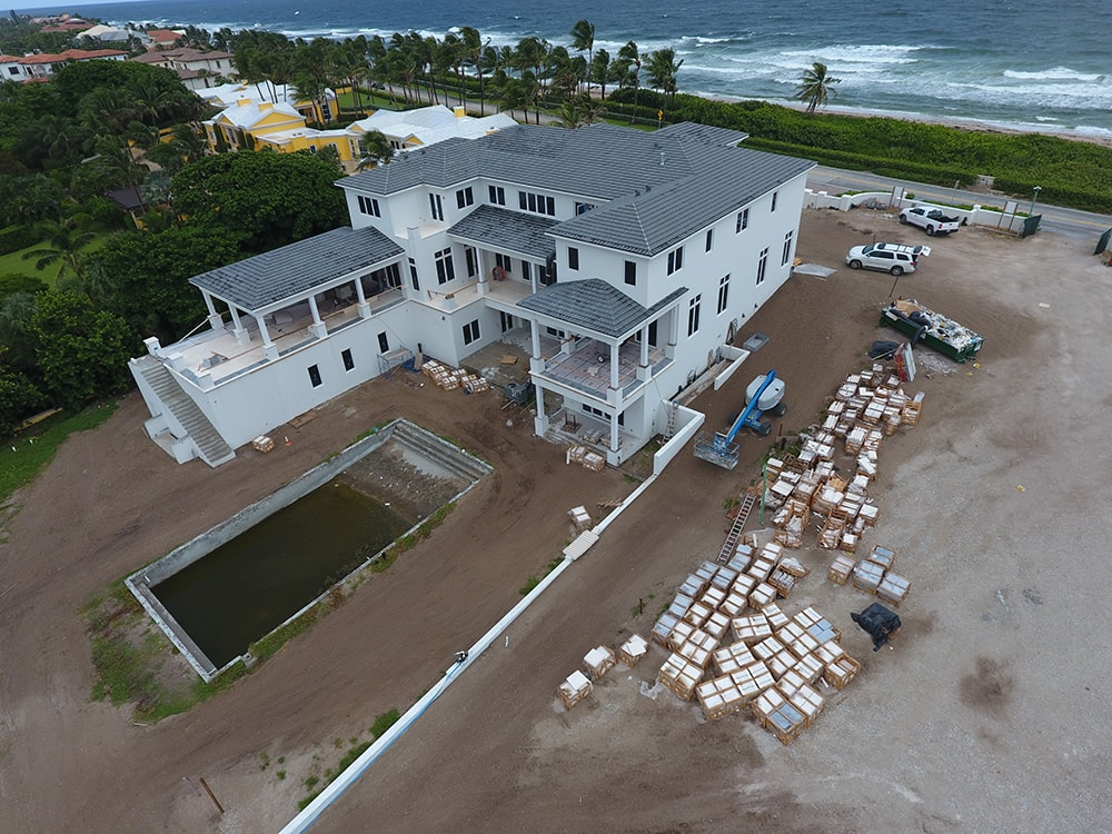 Luxury Oceanfront Home Construction